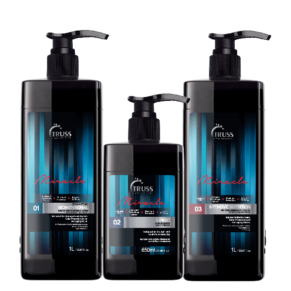 Набор из трех средств для быстрого восстановления волос TRUSS KIT FAST REPAIR